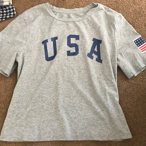usa fitted top